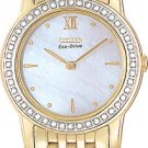 Citizen EG3002-59D Stiletto Gold Tone Diamond Ladies