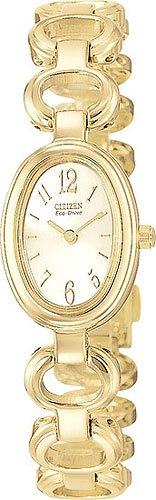 Citizen EW8342-50P Eco-Drive Silhouette Gold Tone Ladies