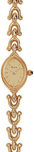 Bulova 95T29 14kt Gold Ladies