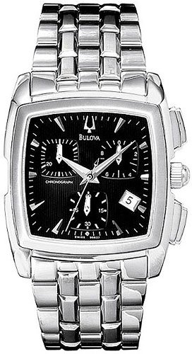 Bulova 96G27 Black Dial Chronograph Men's