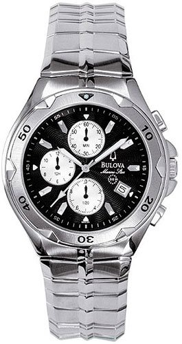Bulova 96G36 Marine Star Black Dial Chronograph Men's