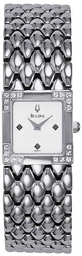 Bulova 96R03 Diamond Bezel Ladies