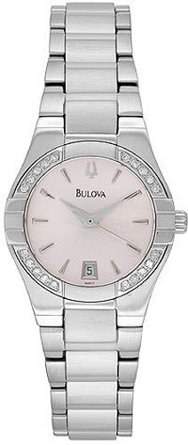 Bulova 96R17 Diamond Pink Dial Ladies