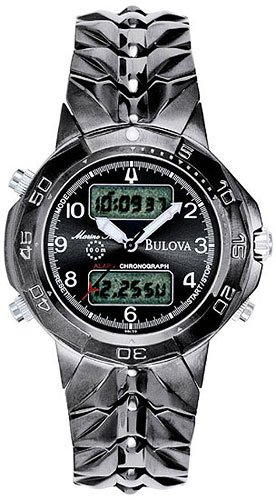 Bulova 98C59 Digital Marine Star Black Men's