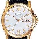 Bulova 97C45 Leather Strap Men's