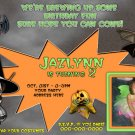 Custom photo Halloween Birthday Invitation
