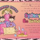Sleep Over - Pajama party custom Birthday Invitation - Printable