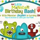 Little Monster Custom Birthday Party Invitation- printable
