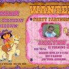 Custom Dora the explorer cowgirl Birthday Invitation