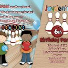 Custom Bowling Boys Birthday Party Invitation