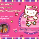 Hello Kitty - Roller Skating Personalized Birthday Invitation