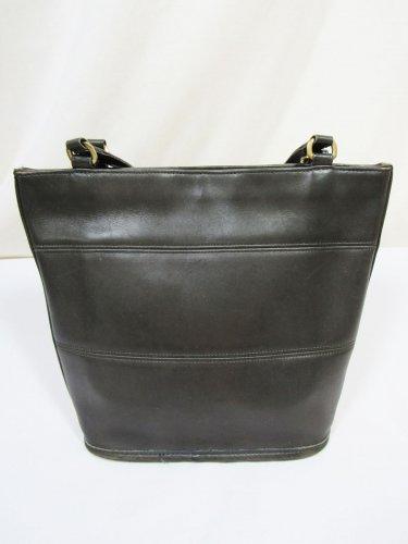 Coach Vintage Dark Gray Leather Tribeca Tote Shoulder Bag 9098 USA