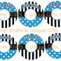 Blue, Black & White Dots & Stripes Closet Dividers