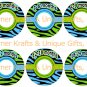Blue & Green Zebra Closet Dividers