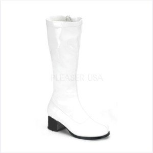 White GoGo Boots 7