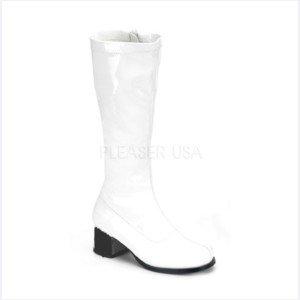 White Gogo Boots 9