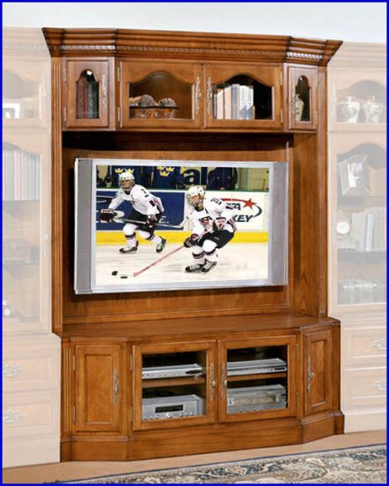 Signature Home Furnishings Bloomington 62 Inch Tv Oak Entertainment Center Si 315 350 1