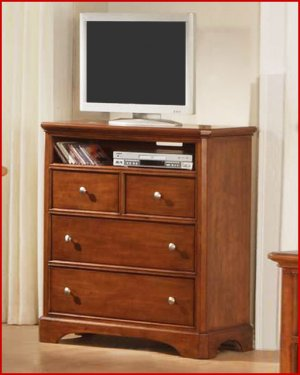 Winners Only Furniture Topaz Cinnamon 38 Inch Bedroom Height Tv Stand Chest Wo Bt2007tv