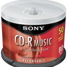 Sony 50crm80ls2//t 80-minute Audio Cd-r 50-ct