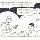 Dave Patterson Original newave comix art 1980 - coffee