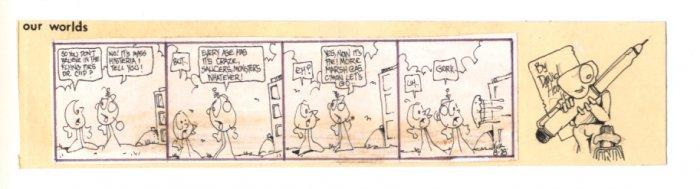David Heath No Sex Original comic strip art 1978