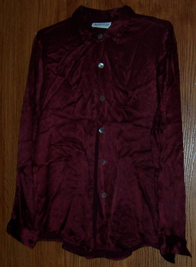 Maroon Dress Blouse ( SZ M)
