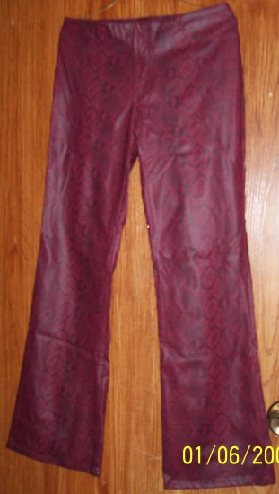 Maroon Leather Type Pants  SZ 9