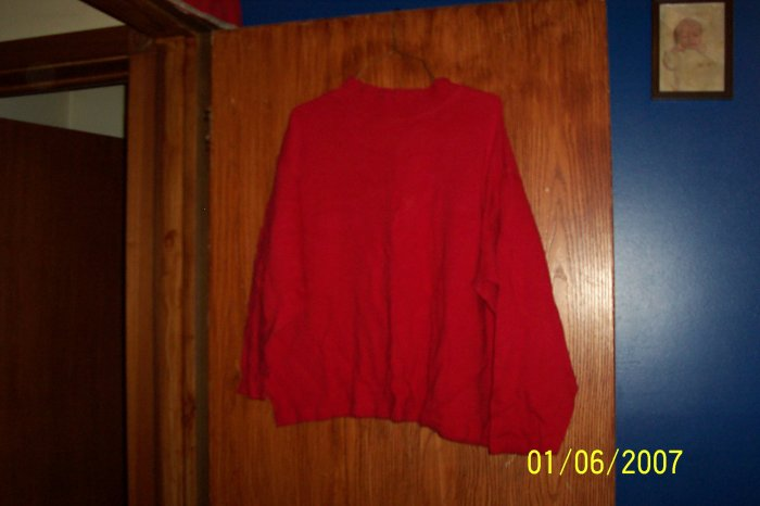 Red Turtle Neck Shirt  SZ XL