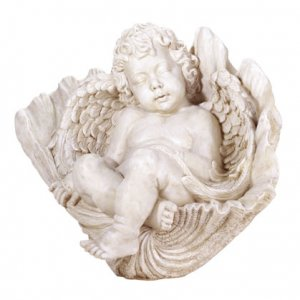 SLEEPING CHERUB ON SHELL