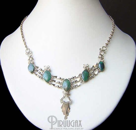 DIVINE AMNESTY Silver Turquoise Necklace Choker
