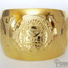 INCA SUN GOD Rich 18K Gold plated Embossed Bracelet Cuff