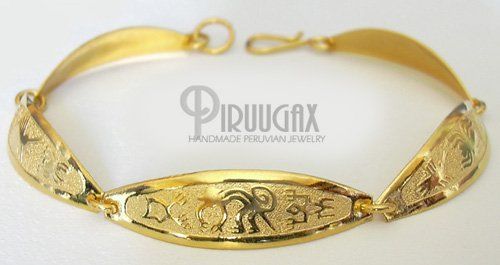 INCA EMPRESS Rich 18K Gold plated Embossed Bracelet