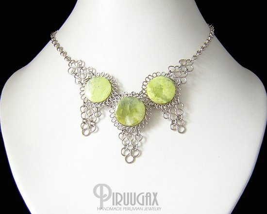 GREEN VALLEY Silver Serpnetince Necklace Choker