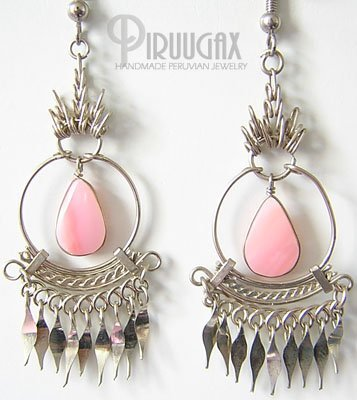 PINK SYMPHONY Silver Chandelier Earrings