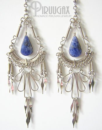 CARISMA Lapis Sodalite Silver Chandelier Earrings