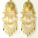 IMPERIAL BEAUTY ~ 24K Gold GP Coins Chandelier Earrings