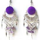 AMETHYST RAIN ~ LG PURPLE AGATE Gypsy Chandelier Earrings