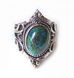 EXTREME BEAUTY ~ TURQUOISE Silver Adjustable Ring