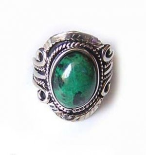 FOREVER ~ INDIAN TURQUOISE Silver Adjustable Ring