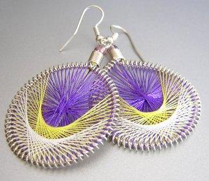 TANGO LightWeight Hand Woven Thread Earrings