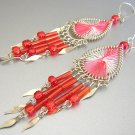CUBA LIBRE ~  Hand Woven Hippie Thread Chandelier Earrings