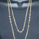 Vintage Monet  Necklace Gold Chain w/Beads  Signed