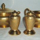 Vintage Wheeling Decorating Art Deco Gold Encrusted Set
