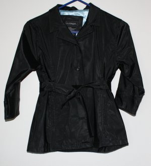 Girls Black Trench Coat  Outbrook 6-6X