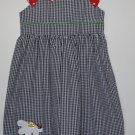Bonnie Jean Sun Dress Plaid 6x  Lady Bug