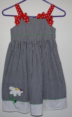 Bonnie Jean Sun Dress Plaid 6x  Lady Bug