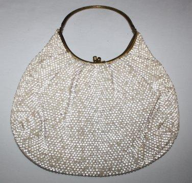 Vintage Beaded Purse Hand Bag   Lady Gino  Italy