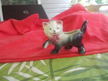 vintage pottery cat planters
