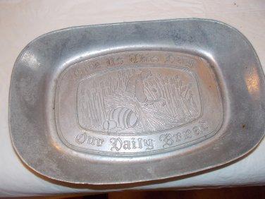 vintage pewter trays