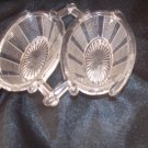 vintage double salts dishes